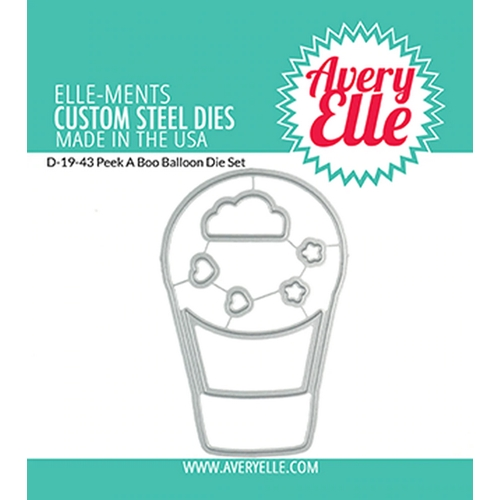 Avery Elle Steel Dies PEEK A BOO BALLOON D-19-43 Preview Image
