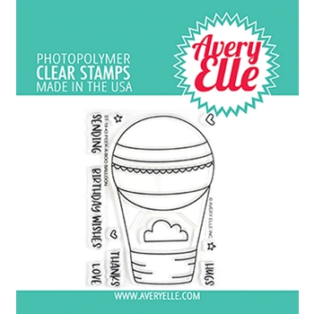 Avery Elle Clear Stamps PEEK A BOO BALLOON ST-19-43