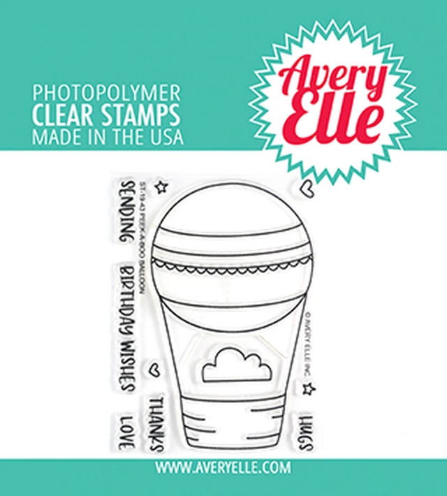 Avery Elle Clear Stamps PEEK A BOO BALLOON ST-19-43 zoom image
