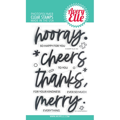 Avery Elle Clear Stamps HOORAY ST-19-39 Preview Image