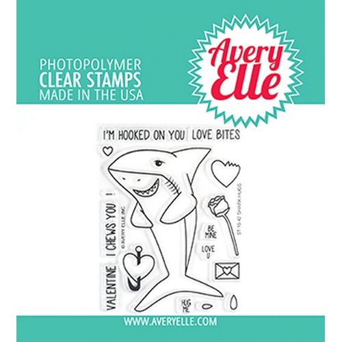 Avery Elle Clear Stamps SHARK HUGS ST-19-42 Preview Image