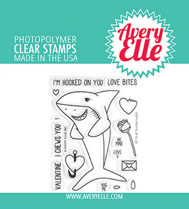 Avery Elle Clear Stamps SHARK HUGS ST-19-42 zoom image