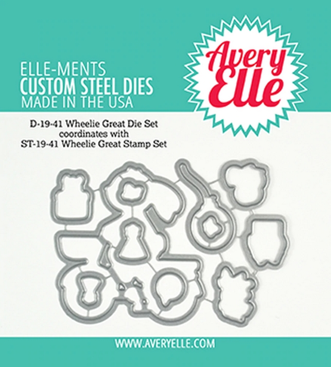 Avery Elle Steel Dies WHEELIE GREAT D-19-41 zoom image