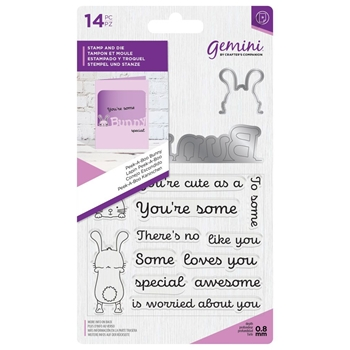 Crafter's Companion PEEK-A-BOO BUNNY Gemini Stamp And Die Set gem-std-pabbun