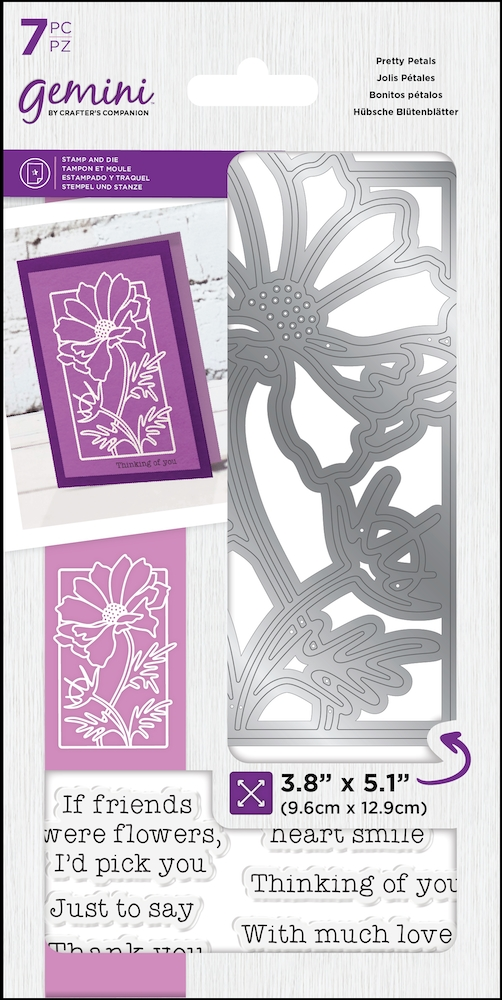 Gemini PRETTY PETALS Stamp And Die Set gem-std-ppas* zoom image