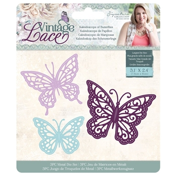 Crafter's Companion KALEIDOSCOPE OF BUTTERFLIES Vintage Lace Dies s-vl-md-kob