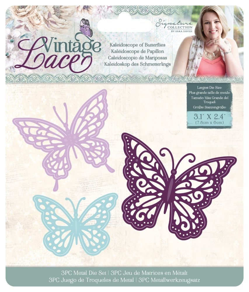 Crafter's Companion KALEIDOSCOPE OF BUTTERFLIES Vintage Lace Dies s-vl-md-kob zoom image