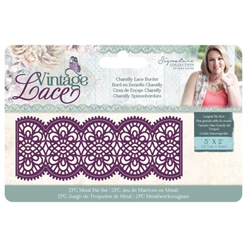 Crafter's Companion CHANTILLY LACE BORDER Vintage Lace Dies s-vl-md-clb