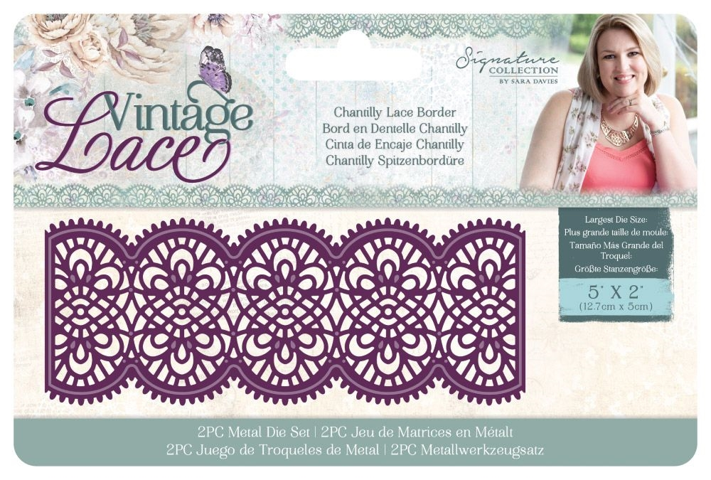 Crafter's Companion CHANTILLY LACE BORDER Vintage Lace Dies s-vl-md-clb zoom image