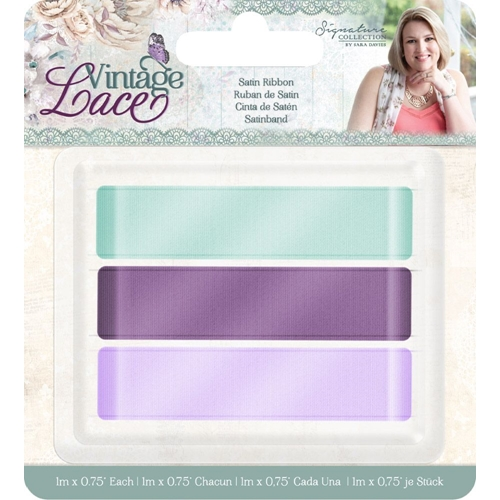 Crafter's Companion VINTAGE LACE Satin Ribbon s-vl-rib-sat Preview Image