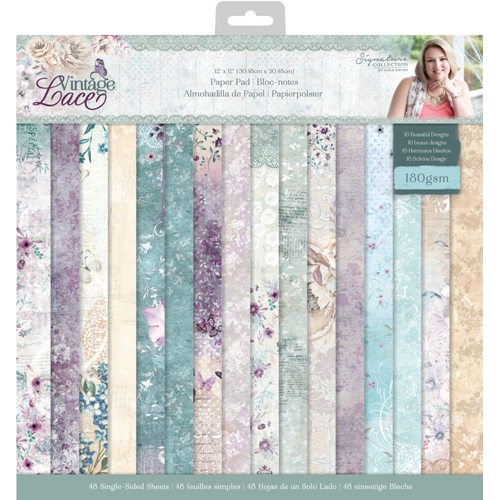 Crafter's Companion VINTAGE LACE 12 x 12 Paper Pad s-vl-pad12 Preview Image