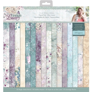 Crafter's Companion VINTAGE LACE 12 x 12 Paper Pad s-vl-pad12