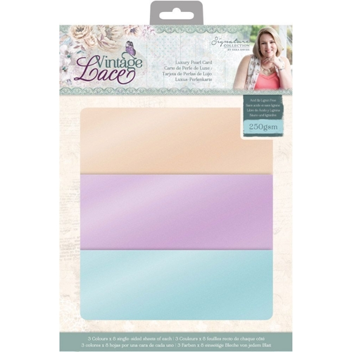 Crafter's Companion VINTAGE LACE 8.5 x 11 Luxury Pearl Card s-vl-pearl-us Preview Image