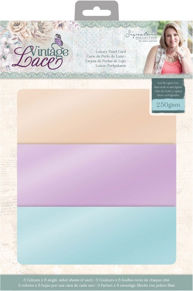 Crafter's Companion VINTAGE LACE 8.5 x 11 Luxury Pearl Card s-vl-pearl-us zoom image