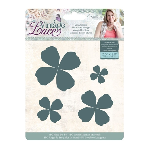 Crafter's Companion VINTAGE ROSE Vintage Lace Dies s-vl-md-viro Preview Image