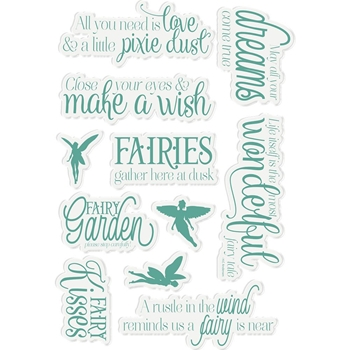 Crafter's Companion FAIRY FABLES Fairy Garden Clear Stamps ng-fairy-st-fafa