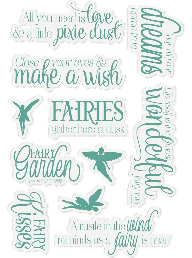 Crafter's Companion FAIRY FABLES Fairy Garden Clear Stamps ng-fairy-st-fafa zoom image