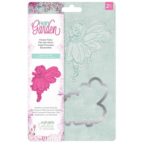 Crafter's Companion FLOWER FAIRY Garden Clear Stamp And Die Set ng-fairy-std-ffai Preview Image