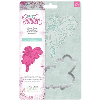 Crafter's Companion FLOWER FAIRY Garden Clear Stamp And Die Set ng-fairy-std-ffai