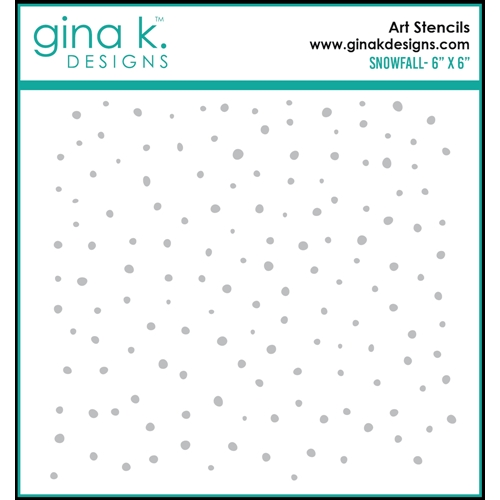 Gina K Designs SNOWFALL Stencil 0312 Preview Image