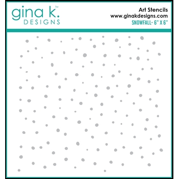 Gina K Designs SNOW FALL Stencil 0312