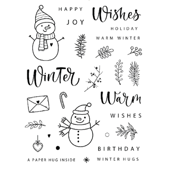 Gina K Designs WINTER HUGS Clear Stamps 0350
