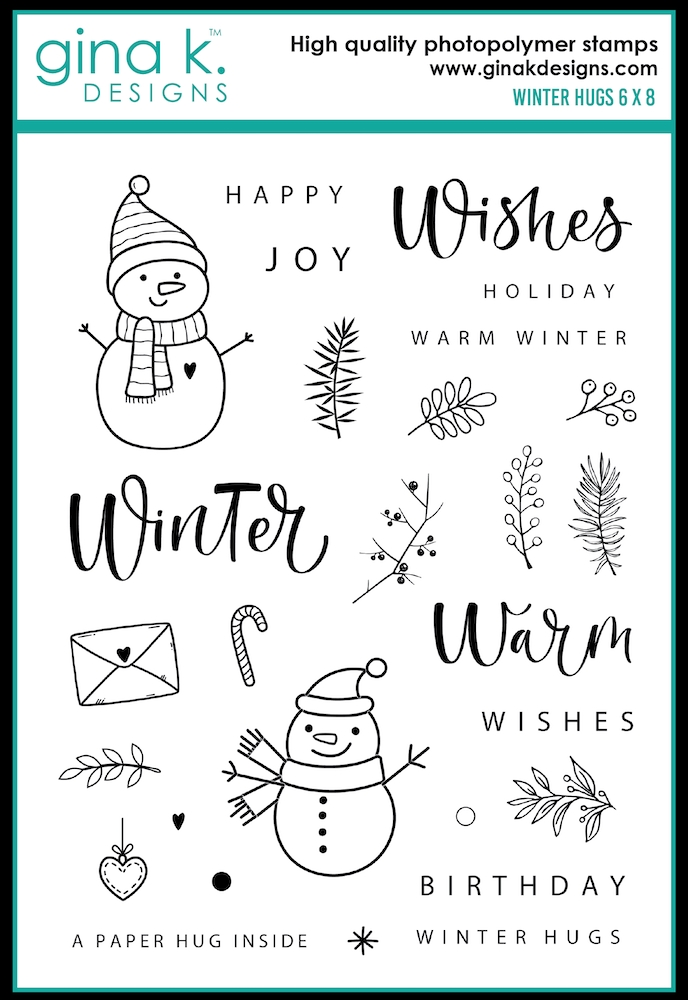 Gina K Designs WINTER HUGS Clear Stamps 0350 zoom image
