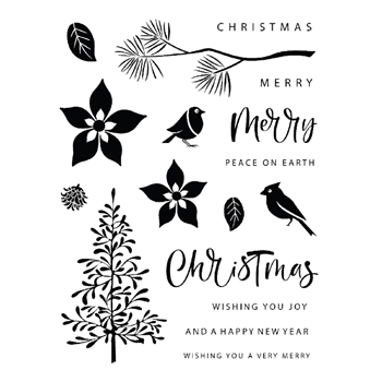 Gina K Designs CHRISTMAS SILHOUETTES Clear Stamps 0374