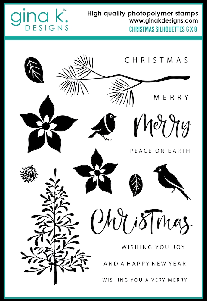 Gina K Designs CHRISTMAS SILHOUETTES Clear Stamps 0374 zoom image