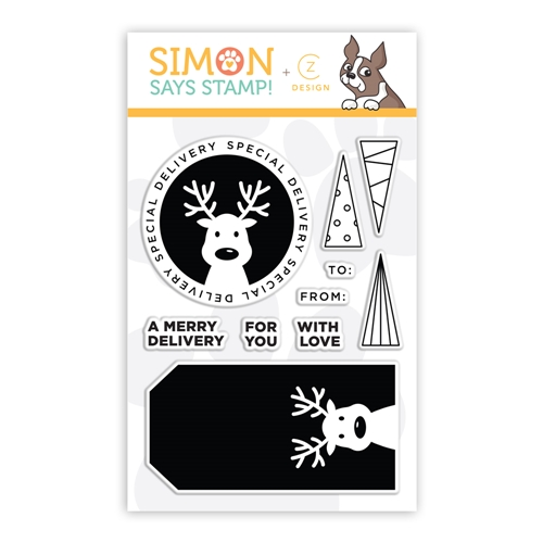 CZ Design Clear Stamp DEER DELIVERY cz45 ** Preview Image