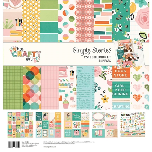 Simple Stories HEY CRAFTY GIRL 12 x 12 Collection Kit 11900 Preview Image