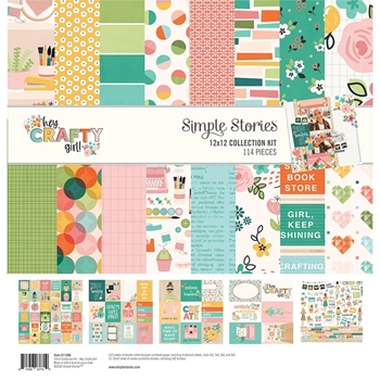Simple Stories HEY CRAFTY GIRL 12 x 12 Collection Kit 11900