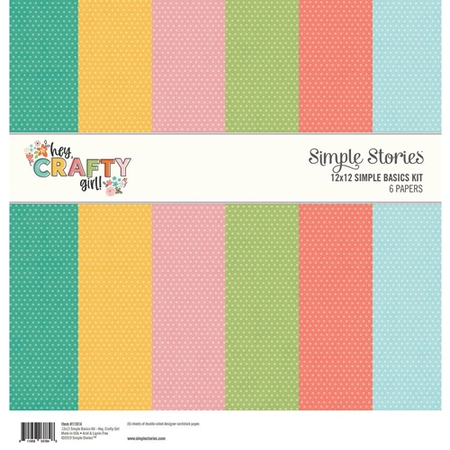 Simple Stories HEY CRAFTY GIRL 12 x 12 Basics Kit 11914 Preview Image