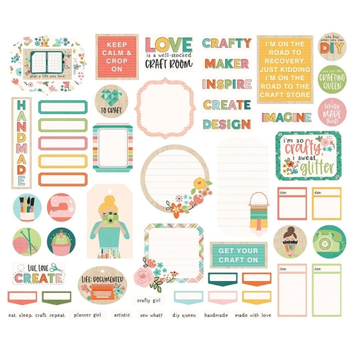 Simple Stories HEY CRAFTY GIRL Journal Bits And Pieces 11924 Preview Image