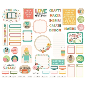 Simple Stories HEY CRAFTY GIRL Journal Bits And Pieces 11924