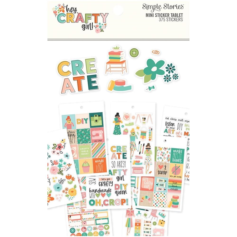 Simple Stories HEY CRAFTY GIRL Mini Sticker Tablet 11925 zoom image