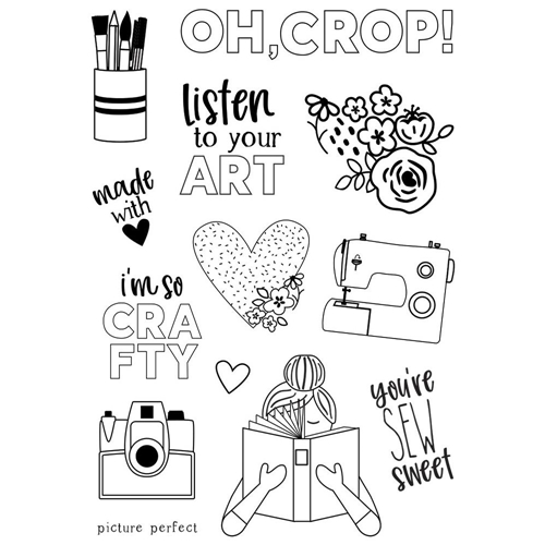 Simple Stories HEY CRAFTY GIRL Clear Stamp Set 11926* Preview Image