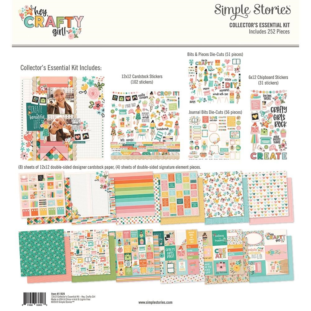 Simple Stories HEY CRAFTY GIRL 12 x 12 Collector's Essential Kit 11929 zoom image