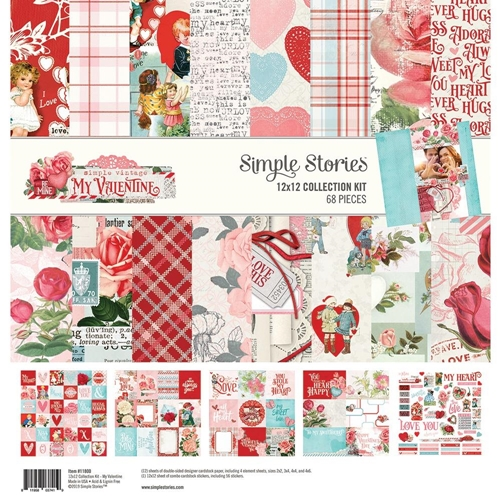 Simple Stories MY VALENTINE 12 x 12 Collection Kit 11800 Preview Image