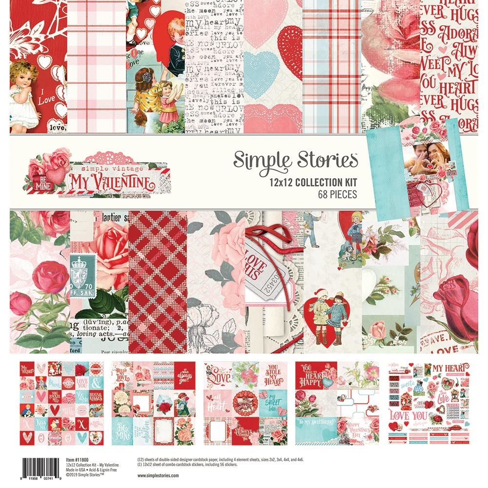 Simple Stories MY VALENTINE 12 x 12 Collection Kit 11800 zoom image