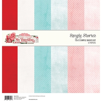 Simple Stories MY VALENTINE 12 x 12 Basics Kit 11815