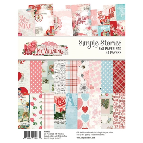 Simple Stories MY VALENTINE 6 x 8 Paper Pad 11822 Preview Image