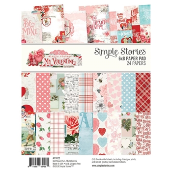 Simple Stories MY VALENTINE 6 x 8 Paper Pad 11822