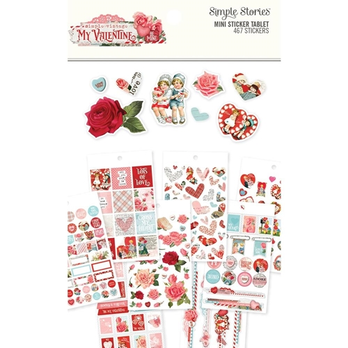 Simple Stories MY VALENTINE Mini Sticker Tablet 11827 Preview Image