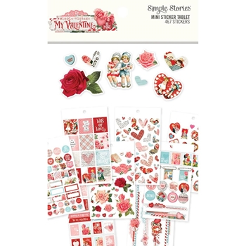 Simple Stories MY VALENTINE Mini Sticker Tablet 11827
