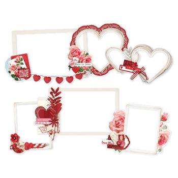 Simple Stories MY VALENTINE Layered Frames Die Cuts 11828