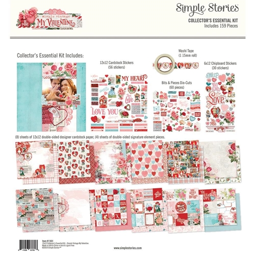 Simple Stories MY VALENTINE 12 x 12 Collector's Essential Kit 11831 Preview Image