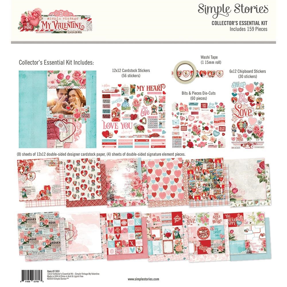 Simple Stories MY VALENTINE 12 x 12 Collector's Essential Kit 11831 zoom image