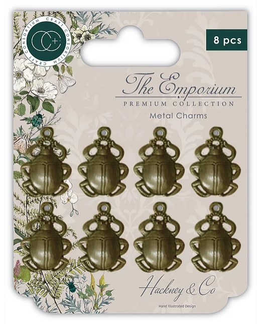 Craft Consortium THE EMPORIUM BEETLE CHARMS CMCHRMT009 zoom image