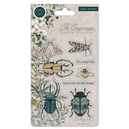 Craft Consortium THE EMPORIUM BEETLES Clear Stamps CCSTMP019 Preview Image
